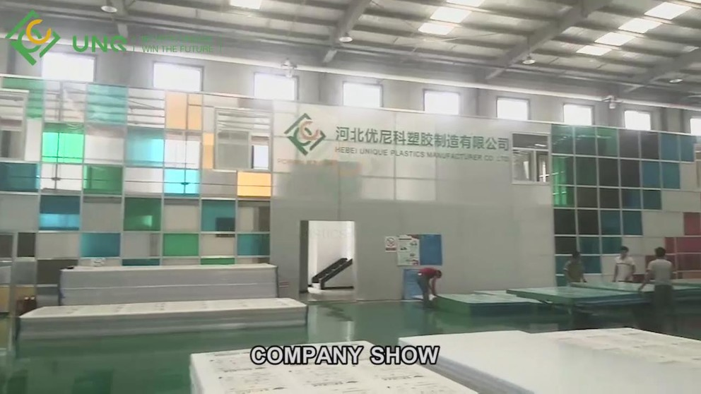 Soild polycarbonate sheet panels Video Display