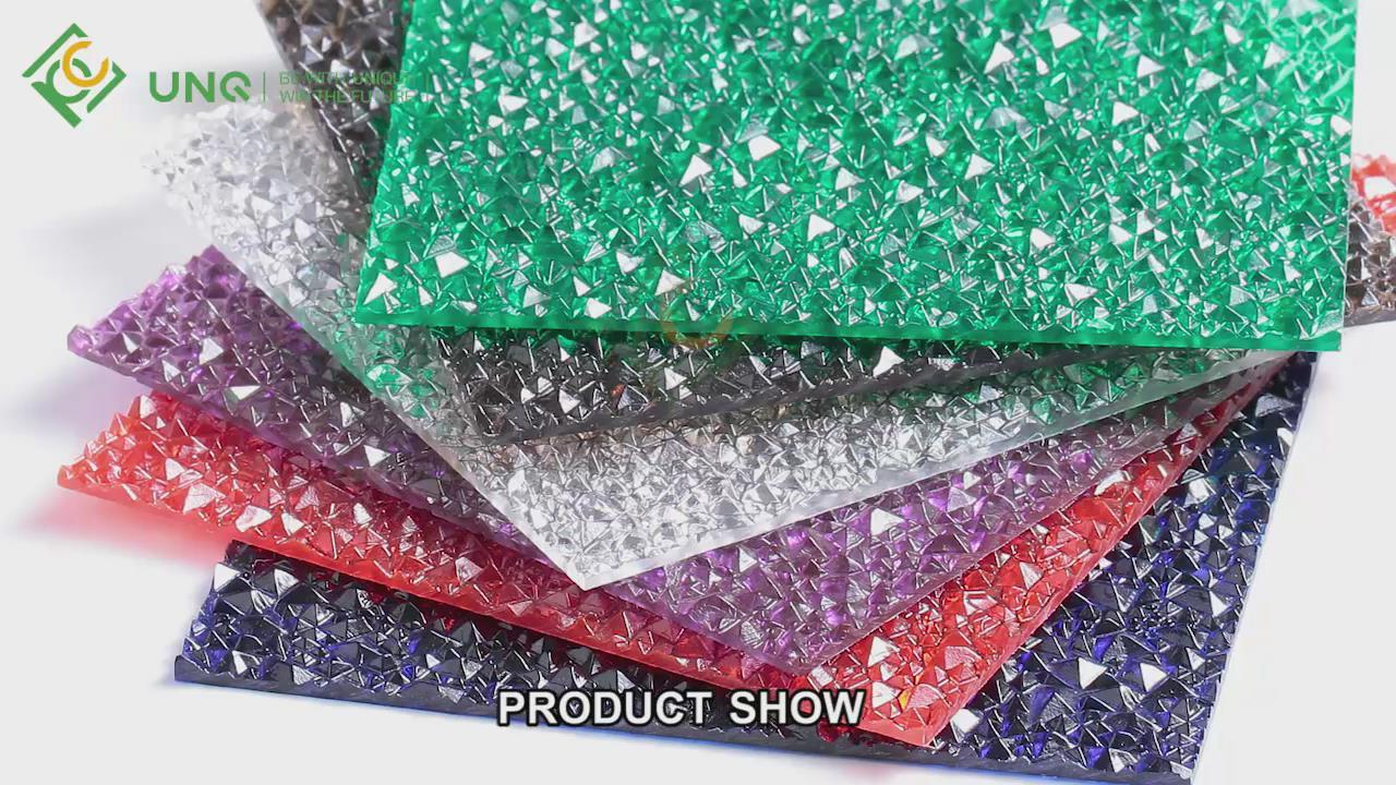 Solid embossed polycarbonate sheet Video