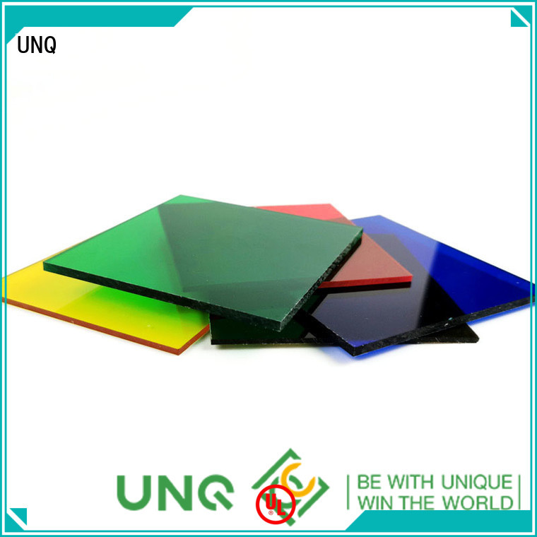 UNQ lexan polycarbonate sheet for sale Supply for office buildings