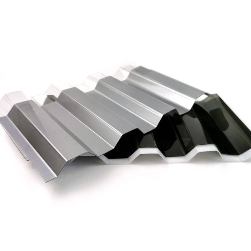 Corrugated Polycarbonate Plastic Roofing Sheets Highly transparent
