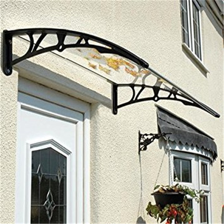 Solid Curved Polycarbonate Awning Door Canopy
